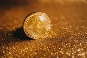 close up shot of a bitcoin