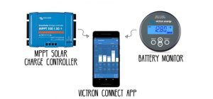 Slothhighfive.com Victron Solar Charge Controller Tiny Home with Battery Monitor